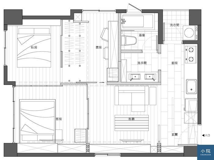 內湖王宅-平面圖-訪客模式