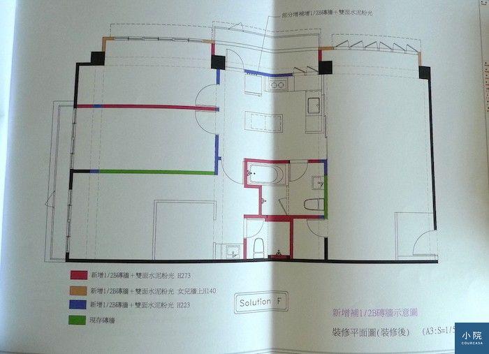 新增牆面平面圖