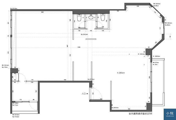 日和設計-延吉街許宅-現況平面圖