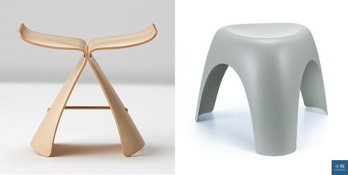 (左為蝴蝶椅,右為象腳椅。)