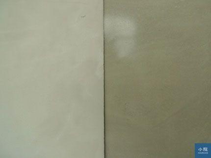 地板表層有氣孔,會吃色的。