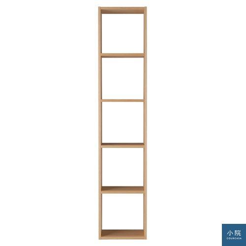 自由組合層架(橡木.5層.基本組)_7,980元_可單用可組合的層架組,可直立也可橫放。