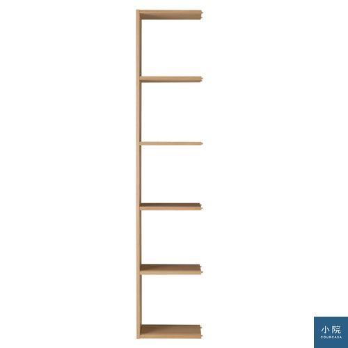 自由組合層架(橡木.5層.追加用)_7,180元_木製組合層架用的追加型。加裝於基本木製層架上。
