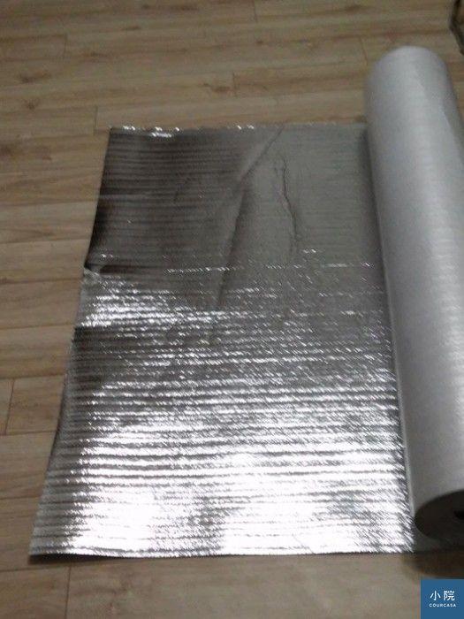 鋁箔泡棉,防潮力最佳。 圖片提供:小院專案杜師傅