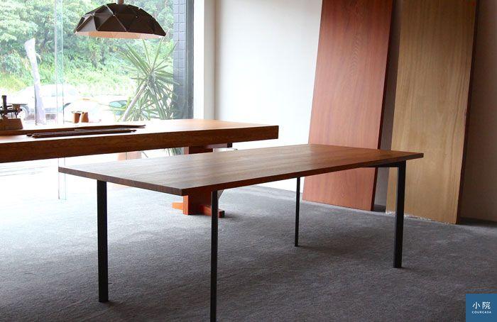木在,緬甸柚木實木拼板餐桌專案。姥姥攝