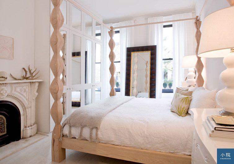 紐約公寓,白色,單面採光,臥室