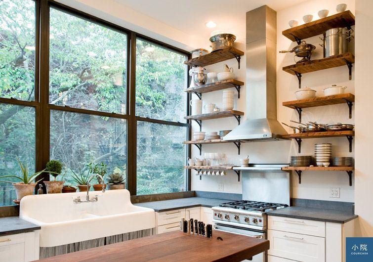 紐約公寓,白色,單面採光,廚房