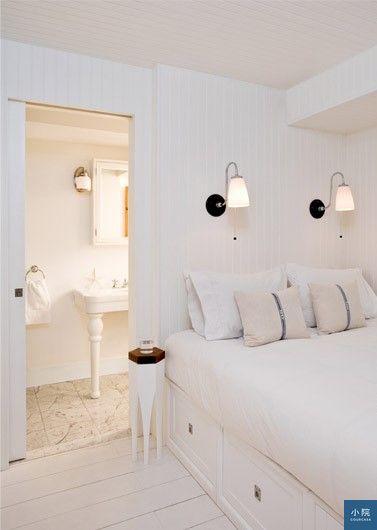 紐約公寓,白色,單面採光