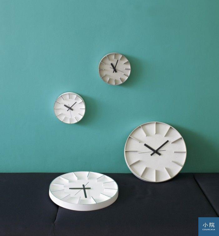 隔間大壁鐘(AZ-0115),有鋁本色、黑色白色三款,定價8500元,小院專案價6800元