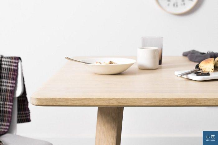 桌緣導角修飾,看起來更輕盈且不怕邊角碰撞