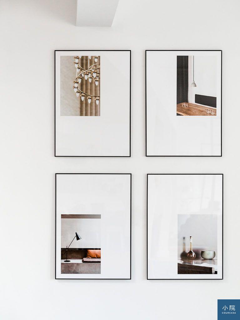 畫面不置中,四件一組的掛畫法