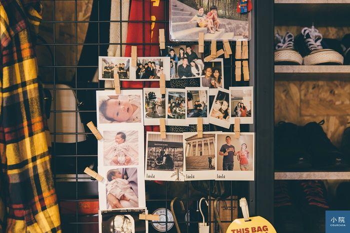 格網上,用木頰也能展示拍立得照片,自己看了會會心一笑的布置