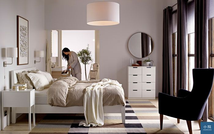 IKEA床,扶手椅,鏡子,抽屜,抱枕__20151_idbe06b_01_PH107341