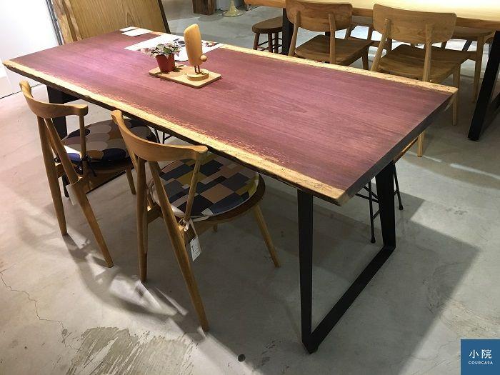 非洲紫羅蘭,L182*W75*桌板厚4.5 cm,定價47500元(含標配桌腳)