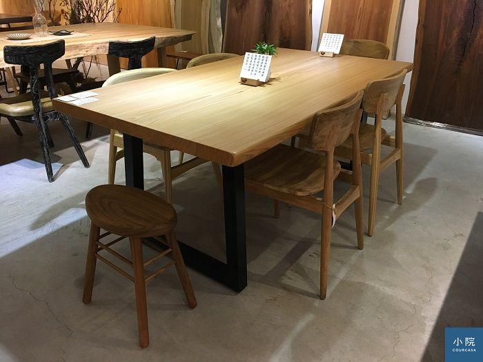 加拿大紅檜,L185*W96.3*桌板厚4.5 cm,定價43000元(含標配鐵腳)