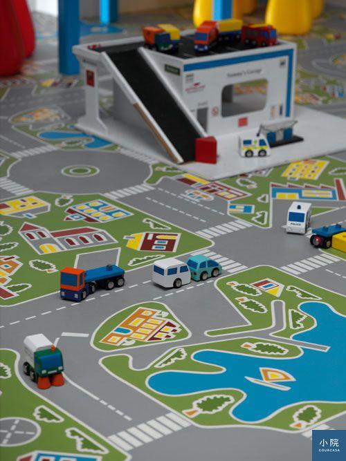 Tarkett,Mini Town地墊,圖片來源:富銘地板