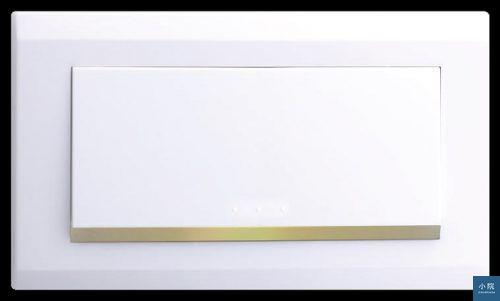 圖片來源:中一電工。 此為中一電工月光系列開關,ABS材質白色款