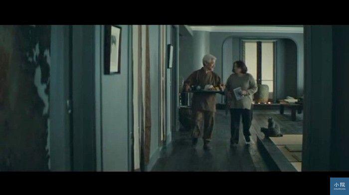 電影「刺蝟的優雅」中男主角的家,全室採用單一色系,在灰中加點藍與綠,比一般灰更多了層次。壁面參考色號: 得利電腦調色漆30BG 37/110。 翻攝自電影