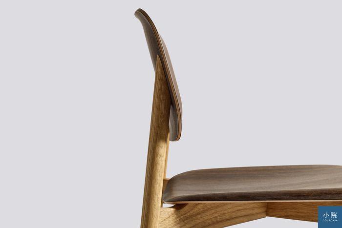 椅背與椅面用合板,彎出更舒適的弧度