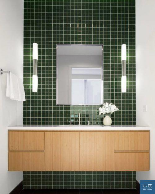 綠色系磁磚,妝點廚衛 | Courcasa 小院