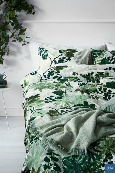 Leaf-print duvet cover set 寢具組,39.99英鎊
